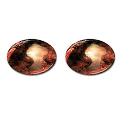 3d Illustration Of A Mysterious Place Cufflinks (Oval)