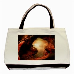 3d Illustration Of A Mysterious Place Basic Tote Bag