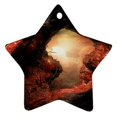 3d Illustration Of A Mysterious Place Star Ornament (Two Sides)