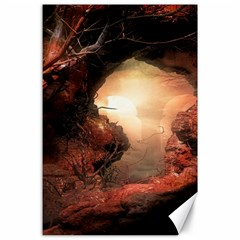 3d Illustration Of A Mysterious Place Canvas 24  x 36