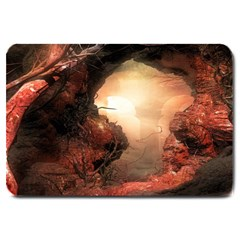 3d Illustration Of A Mysterious Place Large Doormat