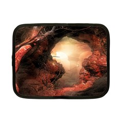 3d Illustration Of A Mysterious Place Netbook Case (Small)