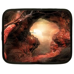 3d Illustration Of A Mysterious Place Netbook Case (large)