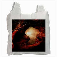 3d Illustration Of A Mysterious Place Recycle Bag (Two Side)