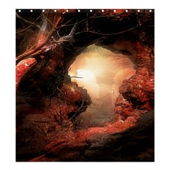 3d Illustration Of A Mysterious Place Shower Curtain 66  x 72  (Large)