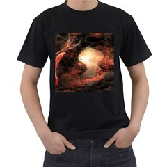 3d Illustration Of A Mysterious Place Men s T-Shirt (Black)