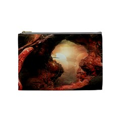 3d Illustration Of A Mysterious Place Cosmetic Bag (medium)