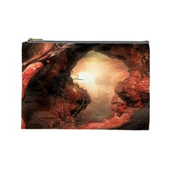 3d Illustration Of A Mysterious Place Cosmetic Bag (Large)