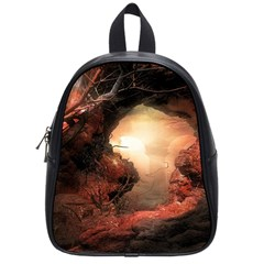 3d Illustration Of A Mysterious Place School Bags (small)