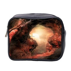 3d Illustration Of A Mysterious Place Mini Toiletries Bag 2 Side