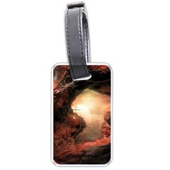 3d Illustration Of A Mysterious Place Luggage Tags (One Side)