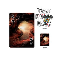 3d Illustration Of A Mysterious Place Playing Cards 54 (Mini)