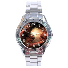 3d Illustration Of A Mysterious Place Stainless Steel Analogue Watch
