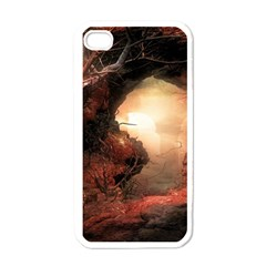 3d Illustration Of A Mysterious Place Apple iPhone 4 Case (White)