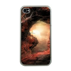 3d Illustration Of A Mysterious Place Apple iPhone 4 Case (Clear)