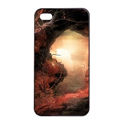 3d Illustration Of A Mysterious Place Apple Iphone 4/4s Seamless Case (black)