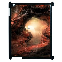3d Illustration Of A Mysterious Place Apple iPad 2 Case (Black)