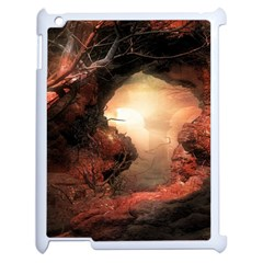3d Illustration Of A Mysterious Place Apple Ipad 2 Case (white)