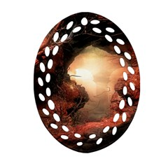 3d Illustration Of A Mysterious Place Ornament (Oval Filigree)