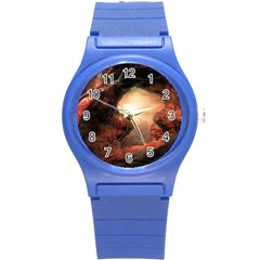 3d Illustration Of A Mysterious Place Round Plastic Sport Watch (S)