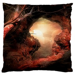 3d Illustration Of A Mysterious Place Large Cushion Case (one Side)
