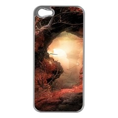 3d Illustration Of A Mysterious Place Apple iPhone 5 Case (Silver)