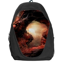 3d Illustration Of A Mysterious Place Backpack Bag