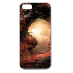 3d Illustration Of A Mysterious Place Apple Seamless iPhone 5 Case (Clear)