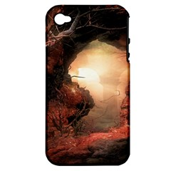 3d Illustration Of A Mysterious Place Apple Iphone 4/4s Hardshell Case (pc+silicone)