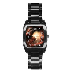 3d Illustration Of A Mysterious Place Stainless Steel Barrel Watch