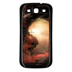 3d Illustration Of A Mysterious Place Samsung Galaxy S3 Back Case (black)