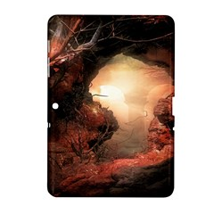 3d Illustration Of A Mysterious Place Samsung Galaxy Tab 2 (10.1 ) P5100 Hardshell Case