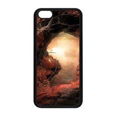 3d Illustration Of A Mysterious Place Apple iPhone 5C Seamless Case (Black)