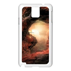 3d Illustration Of A Mysterious Place Samsung Galaxy Note 3 N9005 Case (white)