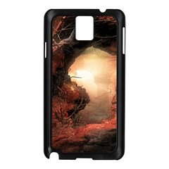 3d Illustration Of A Mysterious Place Samsung Galaxy Note 3 N9005 Case (black)