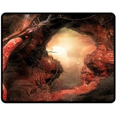 3d Illustration Of A Mysterious Place Double Sided Fleece Blanket (medium)