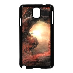 3d Illustration Of A Mysterious Place Samsung Galaxy Note 3 Neo Hardshell Case (Black)
