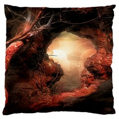 3d Illustration Of A Mysterious Place Large Flano Cushion Case (one Side)