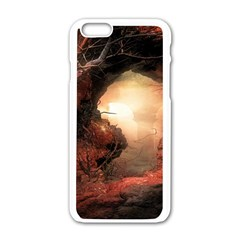 3d Illustration Of A Mysterious Place Apple Iphone 6/6s White Enamel Case