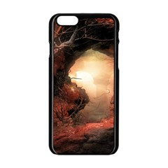 3d Illustration Of A Mysterious Place Apple iPhone 6/6S Black Enamel Case