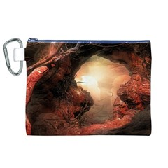 3d Illustration Of A Mysterious Place Canvas Cosmetic Bag (xl)