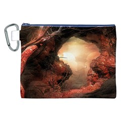 3d Illustration Of A Mysterious Place Canvas Cosmetic Bag (XXL)