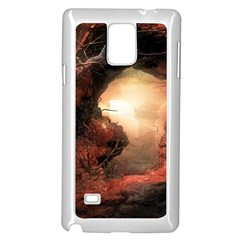 3d Illustration Of A Mysterious Place Samsung Galaxy Note 4 Case (White)