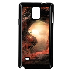 3d Illustration Of A Mysterious Place Samsung Galaxy Note 4 Case (Black)
