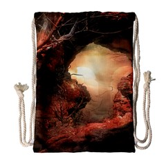 3d Illustration Of A Mysterious Place Drawstring Bag (large)