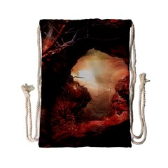 3d Illustration Of A Mysterious Place Drawstring Bag (small)