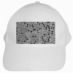 Metal Background With Round Holes White Cap