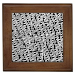Metal Background With Round Holes Framed Tiles