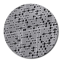 Metal Background With Round Holes Round Mousepads