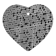 Metal Background With Round Holes Ornament (Heart)